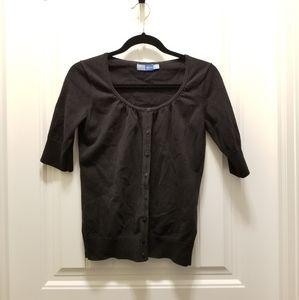 Short sleeve button up cardigan